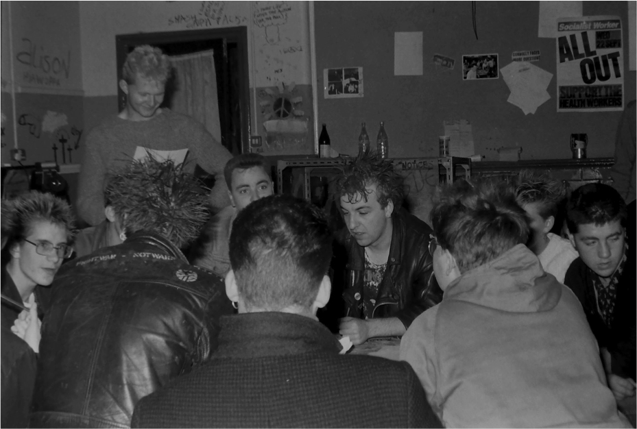 Sunderland Musicians Collective Meeting, Green Terrace Bunker 1982 Image by Mick Catmull Logo
