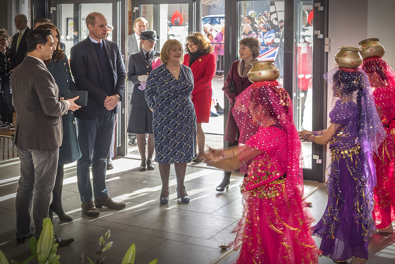 The Duke and Duchess of Cambridge officially opened The Fire Station in 2017 Logo